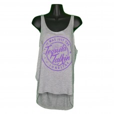 Women's Gray Tequila Talkin' Tank Top