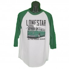 Lonestar White/Dark green Bus Ragland Shirt